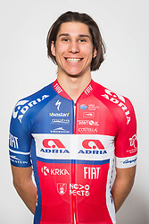 Aljaz Jarc during photo session of Cycling Team KK Adria Mobil, on January 22, 2018 in Novo Mesto, Novo Mesto, Slovenia. Photo by Vid Ponikvar / Sportida