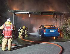 Wellington-Fire destroys 3 storey Tawa house