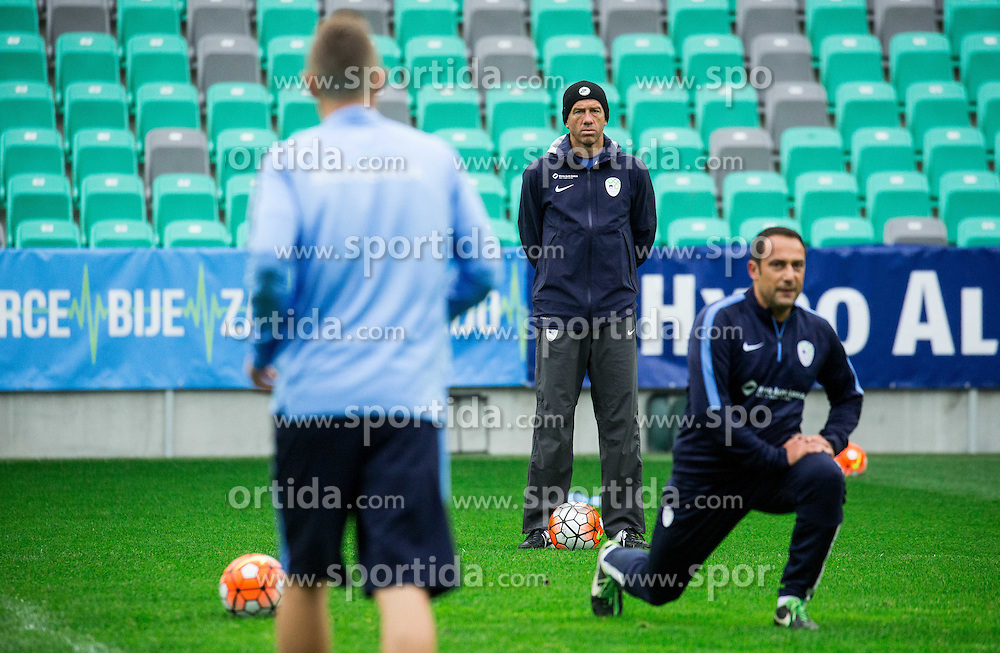 Srecko Katanec, head coach during practice session of Slovenian National Football team two days before Euro 2016 Qualifying game between Slovenia and Lithuania, on October 7, 2015 in SRC Stozice, Ljubljana Slovenia. Photo by Vid Ponikvar / Sportida
