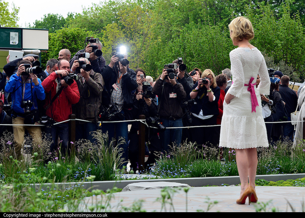 © Licensed to London News Pictures. 20/05/2013. London, UK Actress Emilia Fox is photographed by members of the press.  Press day at Chelsea Flower Show 2013. The centenary edition of the show attracts large number of visitors and is already sold out before opening day. Photo credit : Stephen Simpson/LNP