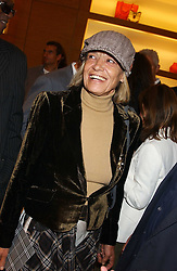 "ANITA PALLENBERG at a party hosted by Christopher Bailey to celebrate the launch of ""The Snippy World of New Yorker Fashion Artist Michael Roberts"" held at Burberry, 21-23 New Bond Street, London on 20th September 2005.<br />