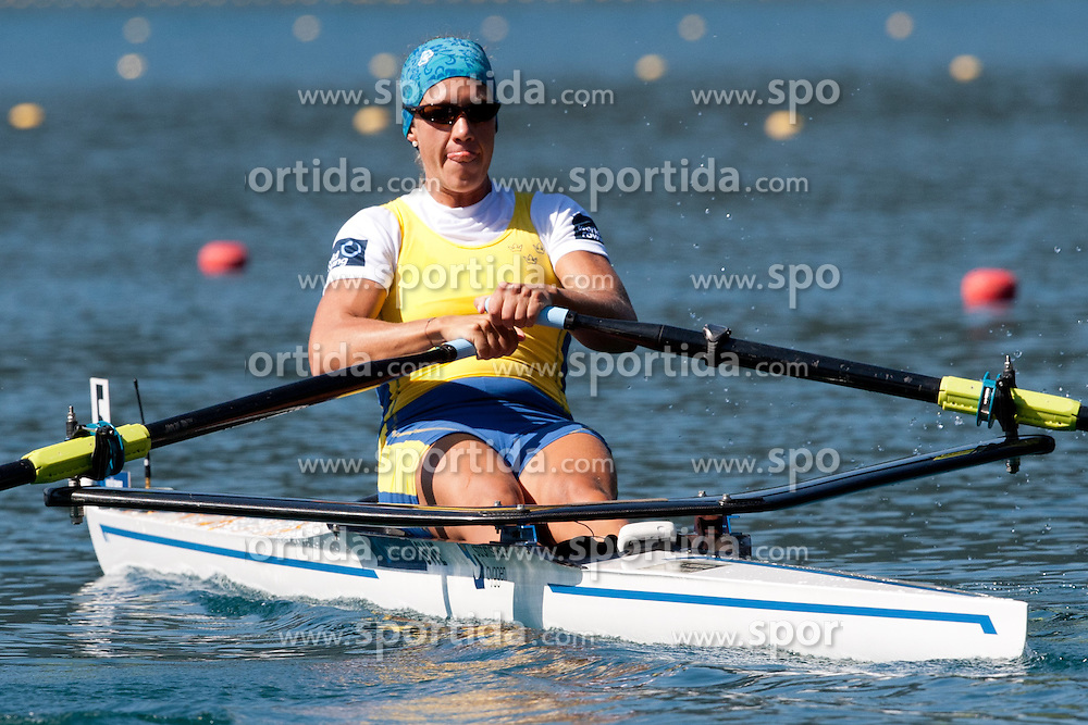Frida Svensson of Sweden during Women's Single Sculls at Rowing World Championships Bled 2011 on September 3, 2011, in Bled, Slovenia. (Photo by Matic Klansek Velej / Sportida)