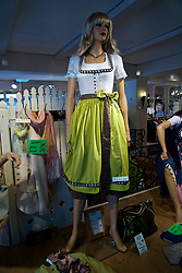 ROTTACH-EGERN, GERMANY - Wednesday, July 26, 2017: A window display of a shop selling traditional Dirndl dresses in Rottach-Egern, the base for Liverpool's preseason training camp in Germany. (Pic by David Rawcliffe/Propaganda)