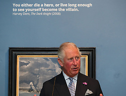 The Prince of Wales speaks during a dinner at Crawford Art Gallery as part of his tour of the Republic of Ireland with the Duchess of Cornwall. PRESS ASSOCIATION Photo. PRESS ASSOCIATION Photo. Picture date: Thursday June 14, 2018. See PA story ROYAL Charles. Photo credit should read: Brian Lawless/PA Wire