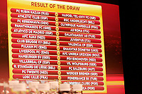 FOOTBALL - MISCS - UEFA EUROPA LEAGUE 2010 - 1/16 FINAL DRAW - 18/12/2009 - PHOTO DPPI - RESULT OF THE DRAW