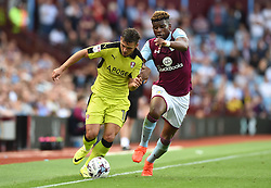 Jake Forster-Caskey of Rotherham United battles with Aaron Tshibola of Aston Villa - Mandatory by-line: Paul Knight/JMP - 13/08/2016 - FOOTBALL - Villa Park - Birmingham, England - Aston Villa v Rotherham United - Sky Bet Championship
