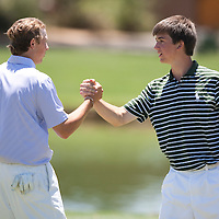 American Junior Golf Association players Oliver Schniederjans and Jordan Spieth at the Thunderbird International Junior tournament.