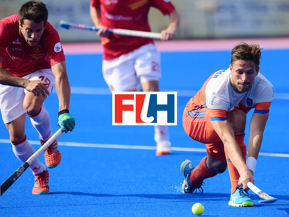 Odisha Men's Hockey World League Final Bhubaneswar 2017<br /> Match id:04<br /> Netherlands vs Spain<br /> Foto: Mirco Pruijser (Ned) and Marc Salles (Esp) <br /> WORLDSPORTPICS COPYRIGHT FRANK UIJLENBROEK