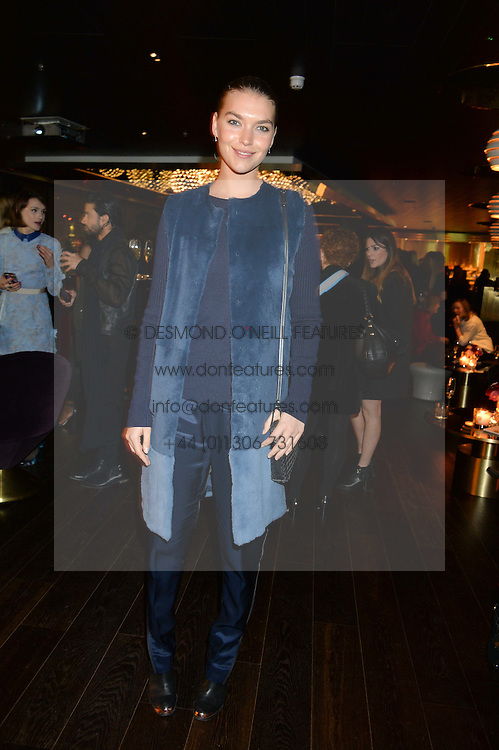 ARIZONA MUSE at the Launch Of Osman Yousefzada's 'The Collective' 4th edition with special guest collaborator Poppy Delevingne held in the Rumpus Room at The Mondrian Hotel, 19 Upper Ground, London SE1 on 24th November 2014, sponsored by Storm models and Beluga vodka.