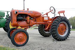 04 May 2013:   Arranged to coincide and be a part of the Red Corridor Route 66 festival, the village of Lexington hosts an antique tractor show.  Roger Whaley is the chairman of the organizing committee.  1944 (B) Allis Chalmers.