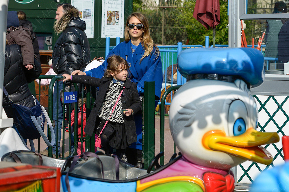 03.MARCH.2013. PARIS<br /> <br /> JESSICA ALBA AND HER DAUGHTER HONOR ARE SEEN ENJOYING A SUNNY SUNDAY AT THE 'JARDIN D'ACCLIMATATION' IN BOULOGNE-BILLANCOURT NEAR PARIS WHERE THEY ENJOYED RIDES AT THE THEMEPARK.<br /> <br /> BYLINE: EDBIMAGEARCHIVE.CO.UK<br /> <br /> *THIS IMAGE IS STRICTLY FOR UK NEWSPAPERS AND MAGAZINES ONLY*<br /> *FOR WORLD WIDE SALES AND WEB USE PLEASE CONTACT EDBIMAGEARCHIVE - 0208 954 5968*