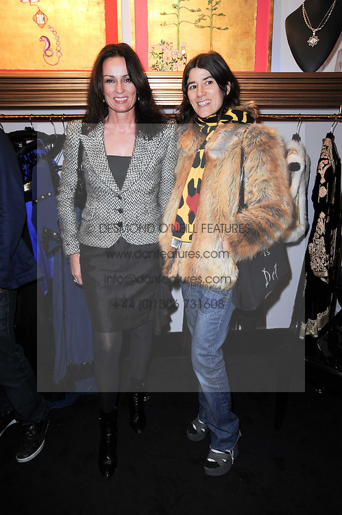 Left to right, TRISH SIMONON and BELLA FREUD at the opening of Jade Jagger's shop at 43 All Saints Road, London W11 on 25th November 2009.