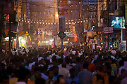 Huge crowds for holy Festival of Shivaratri in the streets of the holy city of Varanasi, Benares, Northern India RESERVED USE - NOT FOR DOWNLOAD -  FOR USE CONTACT TIM GRAHAM