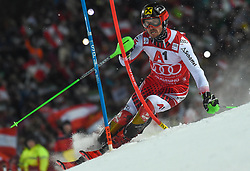 "29.01.2019, Planai, Schladming, AUT, FIS Weltcup Ski Alpin, Slalom, Herren, 1. Lauf, im Bild Marcel Hirscher (AUT) // Marcel Hirscher of Austria in action during his 1st run of men's Slalom ""the Nightrace"" of FIS ski alpine world cup at the Planai in Schladming, Austria on 2019/01/29. EXPA Pictures © 2019, PhotoCredit: EXPA/ Erich Spiess"