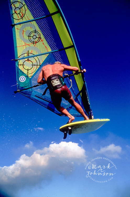 Airborne windsurfer, Hawaii
