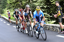 July 27, 2018 - Laruns, France - ZAKARIN Ilnur of Team Katusha - Alpecin, BARDET Romain of AG2R La Mondiale , LANDA Mikel of Movistar Team  during stage 19 of the 105th edition of the 2018 Tour de France cycling race, a stage of 200,5 kms between Lourdes and Laruns. (Credit Image: © Panoramic via ZUMA Press)