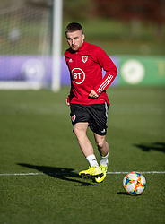 CARDIFF, WALES - Monday, November 18, 2019: Wales' Joseff Morrell during a training session at the Vale Resort ahead of the final UEFA Euro 2020 Qualifying Group E match against Hungary. (Pic by David Rawcliffe/Propaganda)
