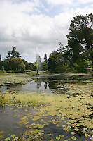 Lake at Powerscourt House and gardens, Co Wicklow, Ireland