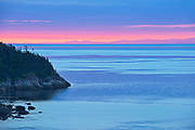 Dawn along the North Shore of the Gulf of St. Lawrence<br />Côte-Nord<br />Quebec<br />Canada