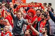 Liverpool fans in party mood in Basel city centre ahead of the UEFA Europa League Final against Sevilla.<br /> Picture by EXPA Pictures/Focus Images Ltd 07814482222<br /> 18/05/2016<br /> ***UK &amp; IRELAND ONLY***<br /> EXPA-FEI-160518-0020.JPG