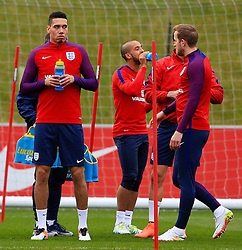 England's Chris Smalling (Manchester United) takes a drink during training - Mandatory byline: Matt McNulty/JMP - 22/03/2016 - FOOTBALL - St George's Park - Burton Upon Trent, England - Germany v England - International Friendly - England Training and Press Conference