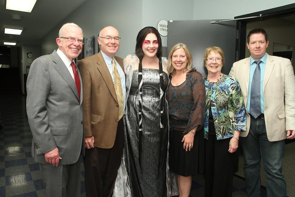 Seattle Opera Turandot donors backstage with Marcy Stonikas.