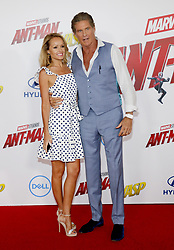 Hayley Roberts and David Hasselhoff at the Los Angeles premiere of 'Ant-Man And The Wasp' held at the El Capitan Theatre in Hollywood, USA on June 25, 2018.