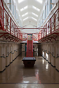 D wing, one of the residential wings at HMP Kingston. Kingston prison is a category C prison holding indeterminate sentenced prisoners. Portsmouth, United Kingdom.