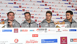 12.02.2018, Austria House, Pyeongchang, KOR, PyeongChang 2018, Pressekonferenz, im Bild v.l. Peter Penz, Georg Fischler, Thomas Streu, Lorenz Koller // during a Pressconference of the Austrian Olympic Team in the Austria House in Pyeongchang, South Korea on 2018/02/12. EXPA Pictures © 2018, PhotoCredit: EXPA/ Erich Spiess