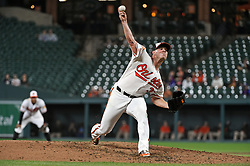 August 29, 2017 - Baltimore, MD, USA - Baltimore Orioles starter Dylan Bundy pitches against the Seattle Mariners in the fifth inning at Oriole Park at Camden Yards in Baltimore on Tuesday, Aug. 29, 2017. The Orioles won, 4-0. (Credit Image: © Kenneth K. Lam/TNS via ZUMA Wire)