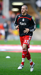 LIVERPOOL, ENGLAND - Saturday, January 26, 2008: Liverpool's Martin Skrtel warms-up before the FA Cup 4th Round match against Havant and Waterlooville at Anfield. (Photo by David Rawcliffe/Propaganda)