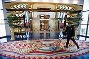 Jumeirah, Burj Al Arab, the World's most luxurious hotel. The Elevators.