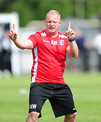 KEVIN WARD COACH CORBY TOWN, Corby Town v Basford  Ltd, EVO Stick Northern Premier Division 1 South, Steel Park Saturday 26th August 2017 Score 1-4<br /> Photo:Mike Capps/kappasport.co.uk