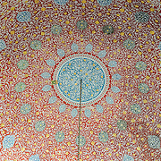 Domed ceiling in the Harem of the Topkapi Palace, the Ottoman palace in Istanbul's Sultanahmet district.