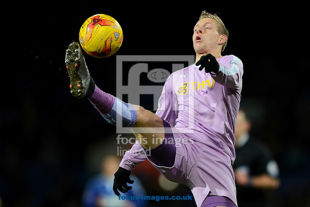 Matej Vydra of Reading controls the ball during the Sky Bet Championship match between Ipswich Town and Reading at Portman Road, Ipswich<br /> Picture by Richard Blaxall/Focus Images Ltd +44 7853 364624<br /> 02/02/2016