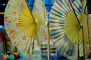 Beautiful decorative fans sold in Chinatown, Singapore
