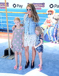 """Rebecca Gayheart with her daughters Billie Dane and Georgia Dane at the premiere of """"Hotel Transylvania 3: Summer Vacation"""" held at the Westwood Village Theatre in Los Angeles"""