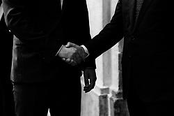 The Italian prime minister Giuseppe Conte meets the Federal Chancellor of Austria Sebastian Kurz at Palazzo Chigi headquarters of the Italian government in Rome on 18 September 2018. Christian Mantuano / OneShot