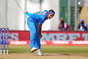 India womens cricket Shikha Pandey bowling during the ICC Women's World Cup match between England and India at the 3aaa County Ground, Derby, United Kingdom on 24 June 2017. Photo by Simon Davies.
