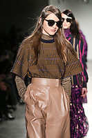Eva Bus walks the runway wearing Karen Walker Fall 2016 during New York Fashion Week on February 15, 2016