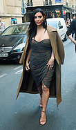 Kim Kardashian sort manger au restaurant &quot;Le Ferdi&quot; &agrave; Paris apr&egrave;s la pr&eacute;sentation de sa nouvelle gamme de produit au &quot;Marionnaud&quot; Champs Elys&eacute;e &agrave; Paris<br /> France, Paris, 15 avril 2015.