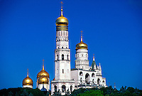 Cathedral Domes, The Kremlin, Moscow, Russia