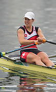 "Rio de Janeiro. BRAZIL right SUI W1X. Jeannine<br /> GMELIN, <br />   2016 Olympic Rowing Regatta. Lagoa Stadium,<br /> Copacabana,  ""Olympic Summer Games""<br /> Rodrigo de Freitas Lagoon, Lagoa. Local Time 10:24:23  Friday  12/08/2016<br /> [Mandatory Credit; Peter SPURRIER/Intersport Images]"