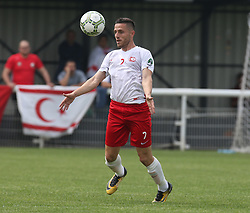 May 31, 2018 - London, England, United Kingdom - Yasin Kurt of Northern Cyprus.during Conifa Paddy Power World Football Cup 2018  Group B match between Northern Cyprus against Karpatalya at Queen Elizabeth II Stadium (Enfield Town FC), London, on 31 May 2018  (Credit Image: © Kieran Galvin/NurPhoto via ZUMA Press)