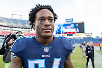 NASHVILLE, TN - DECEMBER 3:  Avery Williamson #54 of the Tennessee Titans walks off the field after a game against the Houston Texans at Nissan Stadium on December 3, 2017 in Nashville, Tennessee.  The Titans defeated the Texans 23-14.  (Photo by Wesley Hitt/Getty Images) *** Local Caption *** Avery Williamson