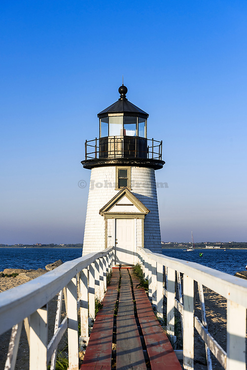 Brant Point Lighthouse on Nantucket Island, Massachusetts, USA.