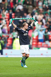 Hibernian's Leigh Griffiths at the end..Hibernian 4 v 3 Falkirk, William Hill Scottish Cup Semi Final, Hampden Park..©Michael Schofield..