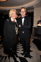 AMANDA ELIASCH and DAVID COLLINS at a dinner hosted by jewellers Damiani at The Connaught Hotel, London on 3rd February 2010.