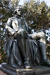 Statue of Thomas Jefferson sitting, University of Virginia in Charlottesville, VA.