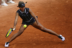 May 22, 2019 - Paris, France - Whitney Osugwe of USA in action Myrtille Georges of France during the first qualifications round of Roland Garros against Myrtille Georges of France, on 22 May 2019 in Paris, France, (Credit Image: © Ibrahim Ezzat/NurPhoto via ZUMA Press)